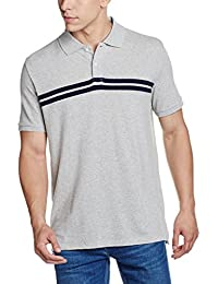 GAP Men's Short Sleeve Chest Stripe Pique Polo