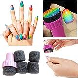 Moonar® 4PCS/Set Nail Art Polish Sponge Brush Stamping Polish Template Transfer Manicure
