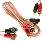 Adapter-Universe® Stereo Cinch Audio Kabel RCA Boxenkabel 2m Stecker f KFZ Car HiFi Endstufe