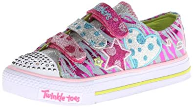 Skechers - 10360 Triple Velcro Shoes, Denim Multi, 2 UK Youth