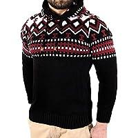 Yvelands Mens Pullover Punto de Punto Chaqueta de Punto de Chaqueta de Abrigo con Capucha Chaqueta Outwear, Caliente! (,)