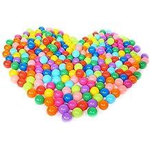 demiawaking 25pcs/50pcs/100pcs 5,5 CM Bolas Marinas Juguete de los Niños Pelotas de Colores para Piscina Bolas de Plástico en Parque Infantil Regalo para Niños Bebé (Color al azar) (50 pcs)