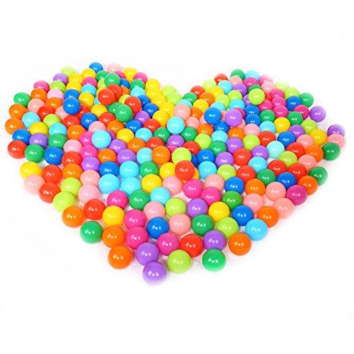demiawaking 25pcs/50pcs/100pcs 5,5 CM Bolas Marinas Juguete de los Niños Pelotas de Colores para Piscina Bolas de Plástico en Parque Infantil Regalo para Niños Bebé (Color al azar) (100 pcs)