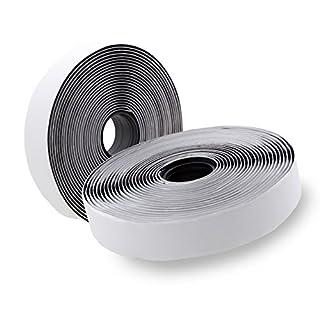 toolable Klettband selbstklebend (5m lang, 2cm breit) für Fliegengitter, Schwarz