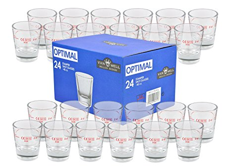 Van Well STAMPER I-I OPTIMAL - Lote de vasos para chupitos (2 cl)