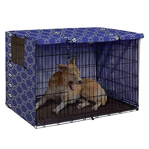Pethiy Hundekäfig-Abdeckung aus Polyester - strapazierfähig, Winddicht, für Hundehütten im Innen- und Außenbereich - nur Abdeckung