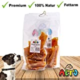 Alto-Petfood - 1000g getrocknete Rindersehnen für Hunde   100% Natur   Premium Qualität - Besonders Langer Kauspaß - Naturkauartikel, Kausnack, Hundesnack, Kauartikel, Rind, Sehnen