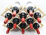 yino Holz Weinregal stapelbar Display Regalen 10 Bottles