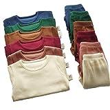6M-7Y Baby Kids Pyjamas Unisex Girls Pjs & Boys Soft Comfy Cotton Elastic Ribbed Loungewear Lounge suit Sleepwear 2pcs Set Clothes Snug Fit Plain Dyed Solid Color Outfit Tracksuit