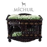 Michur Tom Dark darkbrown wicker house cave bed...