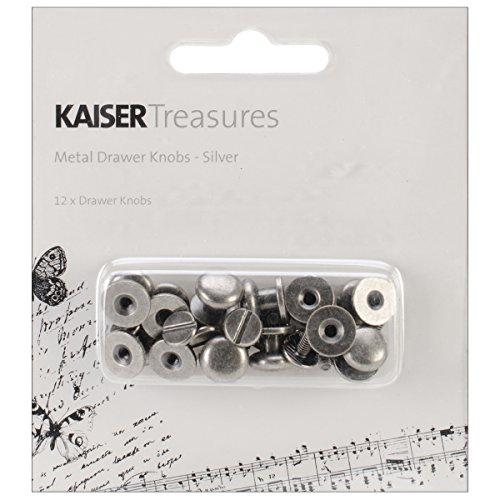 Kaisercraft TM805Handgriff Metall Schublade Knauf, 1cm, antik silber, - Nähen Schubladen