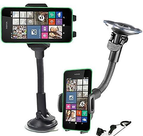 Support voiture rotatif 360 Nokia Lumia 830 + Grille d'aération et Chargeur allume cigare OFFERT !!