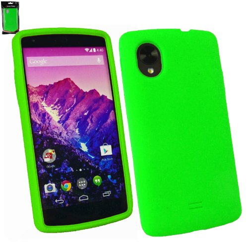 Emartbuy® Silicon Skin Cover Case Green For LG Google Nexus 5  available at amazon for Rs.149