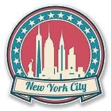 2x 10cm New York América Estados Unidos vinilo pegatinas iPad Laptop Auto Viaje Equipaje # 6736