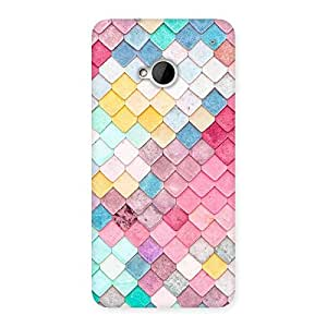 Special Colorfull Rocks Multicolor Back Case Cover for HTC One M7