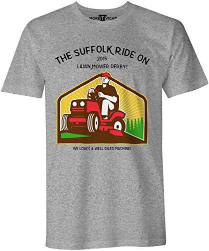 The Suffolk Lawn Mower Derby - Herren Slogan T Shirt Sportsgrau