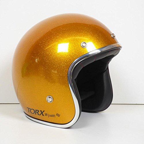 Kopfhörer Schüssel Jet Torx Wyatt gelb glänzend Größe L MOTO Scooter Cyclo Mob Custom
