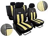 POKTER-GT Sitzbezüge FIRSTCLASS GT in Kunstleder mit Alkantra für Golf VII ab 2012