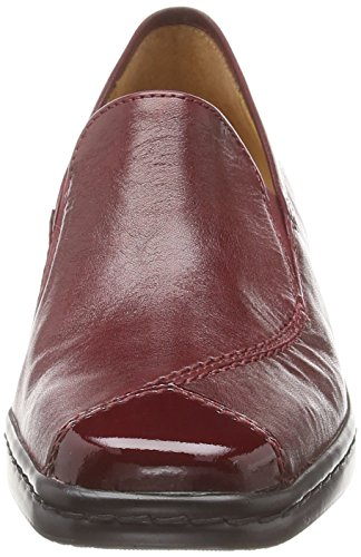 Gabor - Frith, Mocassini Donna Rosso (Red (Dark Red Leather/Patent))