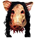 Nihiug Horror Halloween Masquerade Masks Saws 3 Masques De Cochon Avec Masques De Porc Décorations De Parodie - Black Light Up LED,A