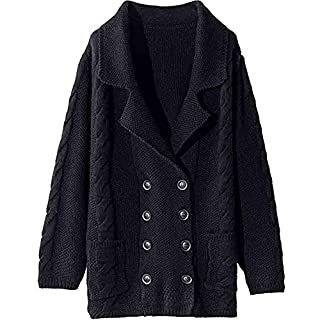YIHANK Women's Sweater Button Outerwear,Loose Large-Necked Solid Knitting TopsGet Up App Local At Space Burlington Biker Awlgrip Wiki Guys Bed Drop Locations Inc Oven