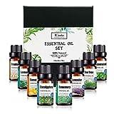 Ätherische Öle Set, LangRay 8x10ml Aromatherapie Duftöl Ätherisches Öl für Aroma diffuser mit Teebaum, Lavendel, Zitronengras, Pfefferminze, Süßorange, Eukalyptus, Rosmarin, Weihrauch