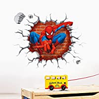 Spider-man children room adornment wall stickers Creative Removable wall decor