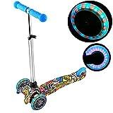swiftt Scooter Kinder ab 3 Jahre,Klappbar Roller Tretroller mit 3 PU Blinkenden Räder, Kinderscooter Kinderroller mit Verstellbarem Lenker bis 60kg belastbar