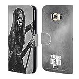 Head Case Designs Offizielle AMC The Walking Dead Michonne Doppelte Aussetzung Brieftasche Handyhülle aus Leder für Samsung Galaxy S6