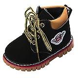 Kinder Baby Stiefel Booties Warme Jungen Freizeit Sneaker Mädchen Schneeschuhe Outdoorschuhe XXYsm Schwarz 20 EU/12-18 Monate