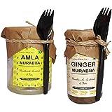 Cactus Ghar Ka Amla Murabba With Honey (500 Gm) + Ginger Murabba With Lemon (200 Gm)