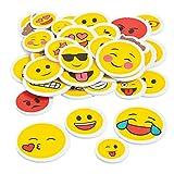 44 x XXL Emoji Smiley Sticker (2 Bögen) Aufkleber Mitgebsel Mitbringsel Kindergeburtstag