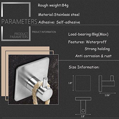 confronta il prezzo Wemk Set da 4 Ganci Appendini adesivi in acciaio inossidabile Multiuso per Cucina, Bagno Ideale Per Appendere Asciugamani, Abiti, Strofinacci, Utensili, Cappotti, Borse, Cappelli. Impermeabili miglior prezzo