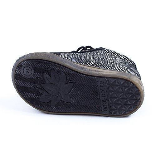 Babybotte Azor, Chaussures Bébé marche bébé fille Noir - Python