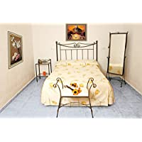 HOGARES CON ESTILO - Cabecero de forja nacional Modelo Aljarafe, color Cobre para cama de