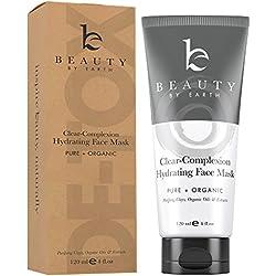 Beauty By Earth | Mascarilla Facial – Tratamiento facial 100% Natural y Ecológico a base de Barro - Contra el Acné, los Puntos Negros - Para la Limpieza Profunda de los Poros