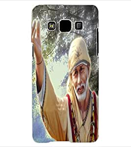 ColourCraft Lord Sai Baba Design Back Case Cover for SAMSUNG GALAXY A3