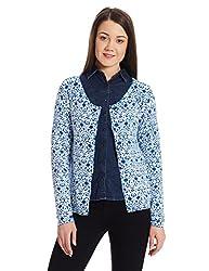 US POLO Womens Cotton Sweatshirt (UWFL0146_Blue_Large)