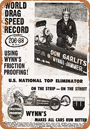 Iron Painting Signs Home Decor 7 X 10 Metal Sign 1965 Don Garlits World Drag Speed Record Vintage Look Speed Records