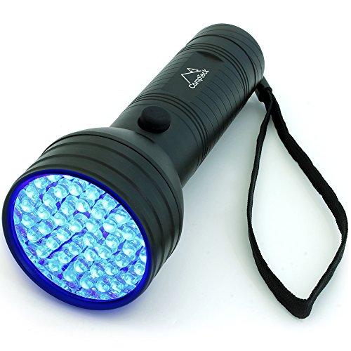 CampTeck 51 LED UV Taschenlampe 395nm Ultraviolette Schwarzlicht Handlampe Hunder Katze Urin Detektor, Flecken auf Kleidern Boden Teppichen