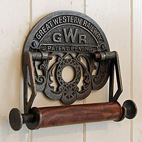 Traditional GWR railways vintage design victorian wall mounted toilet loo roll holder by Bowley and