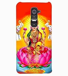 ColourCraft Maa Laxmi Design Back Case Cover for LG G2