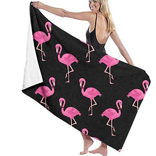 tyui7 Damen Badetuch Wrap - Schöne Rosa Flamingos Reise Waffel Spa Quick Dry Strandtuch Wrap für Mädchen, 80x130 cm -