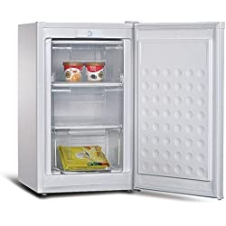 Sirge FREEZER75L Congelatore a cassetti Mini Freezer verticale 75L Classe Energetica A+ COMPATTO 48,5 larghezza x 51 profondita x 84,5 altezza cm - Lt75 Netti - Congelamento 4Kg/24h - 3 CASSETTI separati -24 C (4 stelle) CLASSE A+