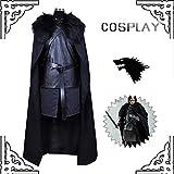 Gaosheng Cosplay Kostüm Game of Thrones Jon Snow Anzug Schwarz für Cosplay Party