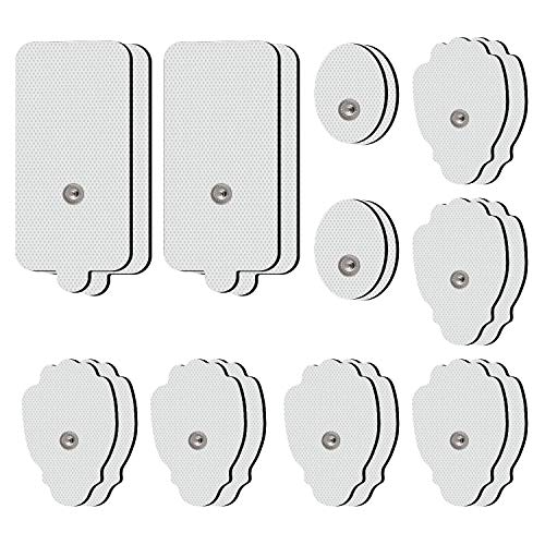 Druckknopf TENS EMS Elektroden Pads 20 Stück Klein Mittel Groß Premium Elektroden Pads insgesamt 3,5 mm Schnappelektrode passend zu Amzyigou TENS Geräten Selbstklebender, wiederverwendbarer Ersatz