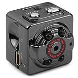 Mini Cam Kamera 1080P Mini Kamera Full HD Tragbare Kleine Nanny Cam mit Nachtsichtgerät für Zuhause/Büro/Garten/Garage/Indoor/Outdoor Sicherheit Kamera