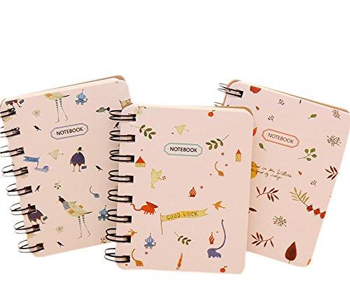 Mackur Mini Forest Klein Coil Notebook Notes Tragbar Spirale Cartoon Flip Tragbar Wort Buch 1Stück (Kleine Spirale Notebook)