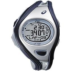 Asics DIGITAL SPORTWATCH CHALLENGE S, dunkelblau/silber CQAR0302 - Reloj digital de cuarzo unisex, correa de plástico multicolor (alarma, cronómetro, registro de vueltas, luz)