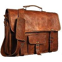 17 Zoll Echtes Leder Umhängetasche Volle Klappe Laptoptasche Eco-Friendly Leder Umhängetasche